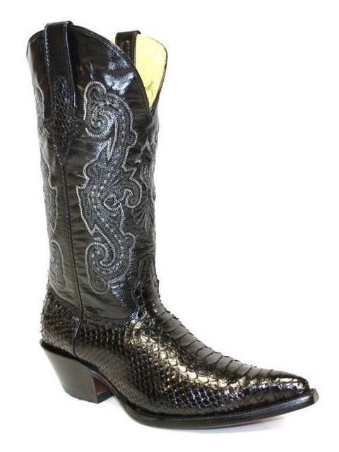 Go west chihuahua python noir - bottes country femme - santiag femme