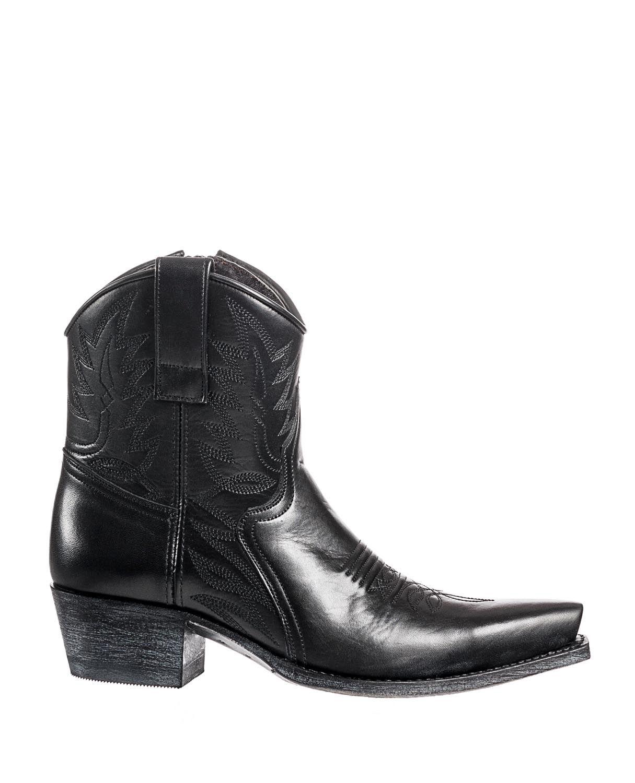 Sendra 10163 black - bottines country femme - santiag basse 73c44fc15dcd